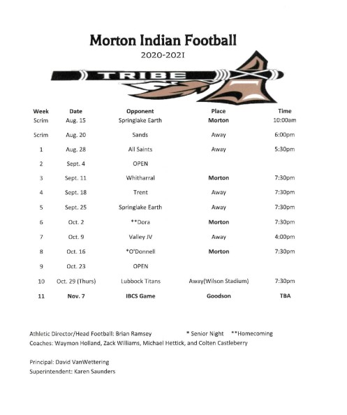 Morton Football 2020