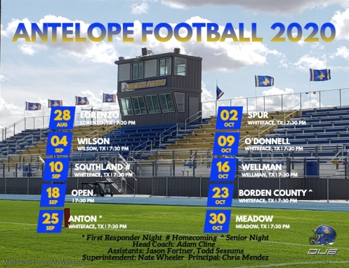 Whiteface Antelopes Football 2020